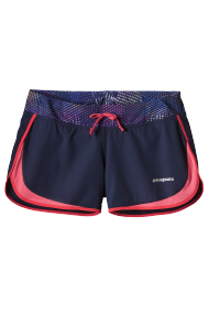 Womens Strider Shorts Navy Blue/ Shocking pink