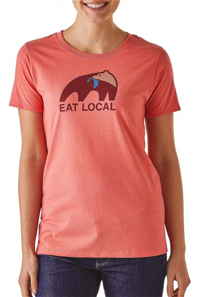 Patagonia_39071_Eat-Local_Womens-T-Shirt_spiced-coral_front angezogen