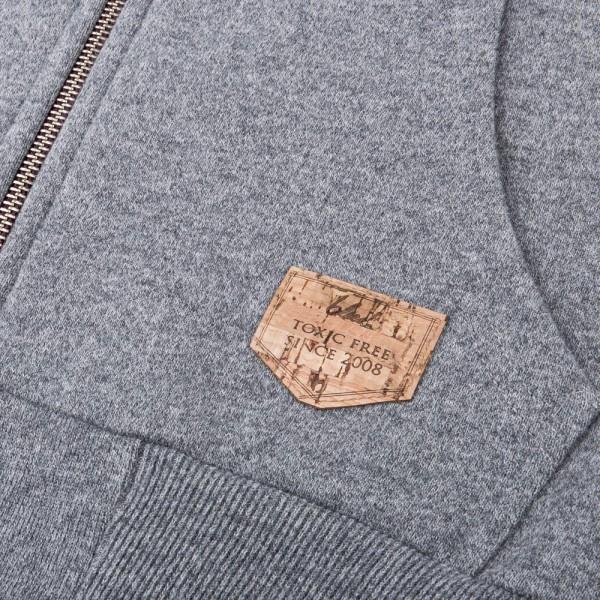 Woody Zip Kapuzenjacke grau toxic Logo
