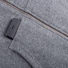 Woody Zip Kapuzenjacke grau handytasche