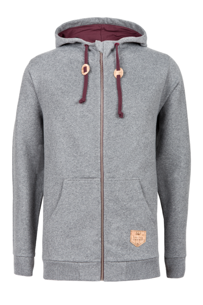 WOODY ZIP Hoody grey