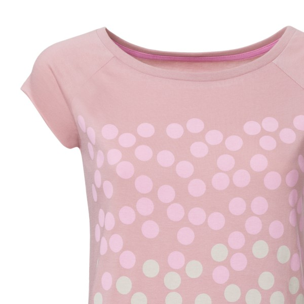 Bubblegum Cap Sleeve Damen rosewood GOTS und Fairtrade detail