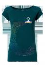 Fellherz Omm GOTS zertifiziertes T-Shirt Damen Farbe deep teal vorn