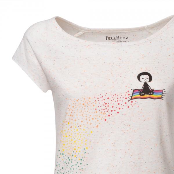 Fellherz Omm GOTS zertifiziertes T-Shirt Damen confetti DETAIL