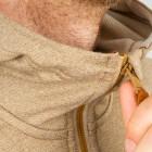 Röjk_Primaloft Drifter Hood Guys cocoa detail zipper