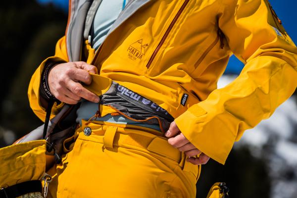 Snowboard Hose für Männer frost detaill bund