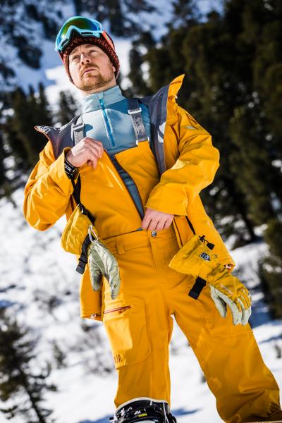 Snowboard Hose für Männer curcuma detaill RV
