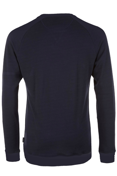 Pally Hi Longsleeve CLASSIC PEAK LOGO Bluek hinten