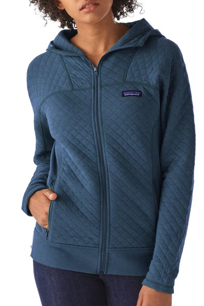 patagonia-25170_Womens-Cotton-Quilt-Hoody_big sur blue_front angezogen