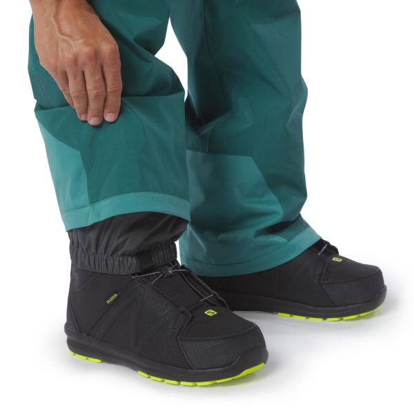 Patagonia Mens Power Bowl Pants arbor green detail Schuh