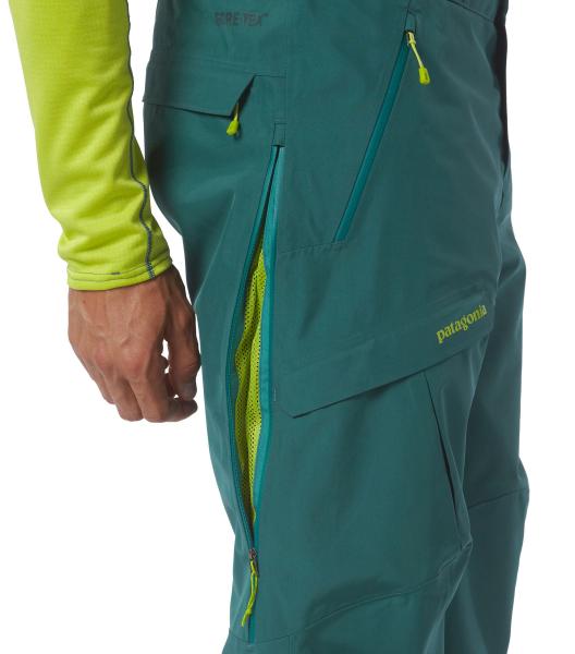 Patagonia Mens Power Bowl Pants arbor green details seite