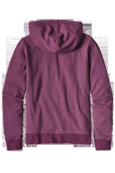 Patagonia Women's Groovy Type Lightweight Hoody - Leichte Kapzenjacke aus Bio Baumwolle für Frauen violet red hinten