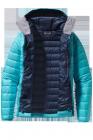 Patagonia Womens Down Sweater Hoody ultramarin Daunenjacke Frauen offen