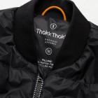 Thokkthokk Light Kapok Vest Mens Black PETA-Approved Vegan - gefütterte Kapuzenweste Herren schwarz Kragen Detail