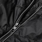 Thokkthokk Light Kapok Vest Mens Black PETA-Approved Vegan - gefütterte Kapuzenweste Herren schwarz Detail Reißverschluass