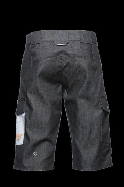 Triple2 Bargup Shorts für Männer black denim hinten