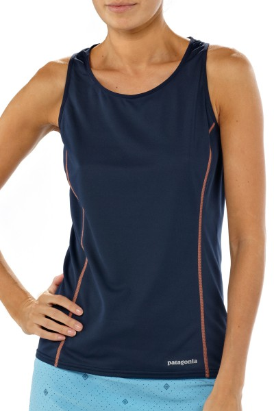 Patagonia Womens Fore Runner Tank - Laufshirt navy blue front
