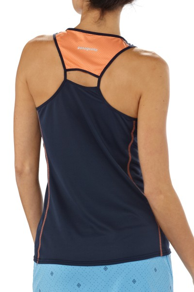 Patagonia Womens Fore Runner Tank - Laufshirt navy blue  back