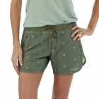 Womens Nine Trail Shorts - Laufshorts Camp Green front