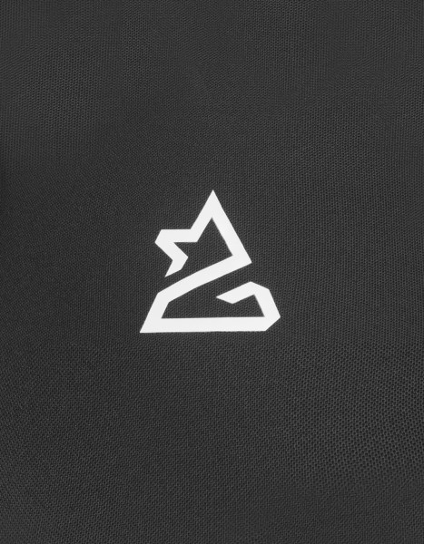 Zimtstern Krizta Bike Shirt Frauen schwarz reflektierendes Logo