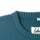 knitted structured jumper Detailansicht Rundhals