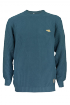 KNITTED STRUCTURED JUMPER Men dark petrol