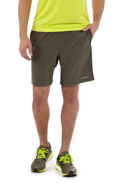 Mens Nine Trail Shorts basin green front