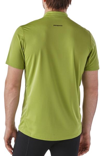 Patagonia Fore Runner Shirt kurzärmliges Lauf- und Radshirt für Herren von hinten