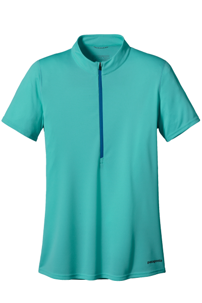 Womens Fore Runner Zip Neck