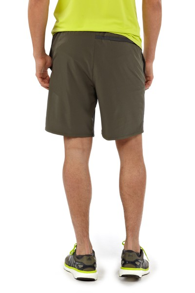 Mens Nine Trail Shorts basin green back